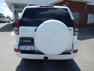 2008 Toyota Landcruiser Prado GRJ120R GXL White 5 Speed Automatic Wagon