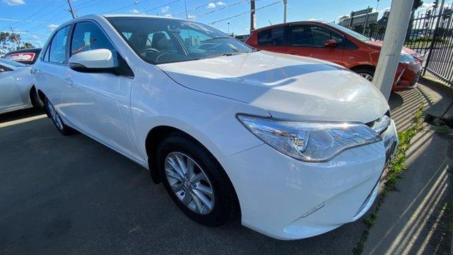 Used Toyota Camry ASV50R Altise Maidstone, 2017 Toyota Camry ASV50R Altise White 6 Speed Sports Automatic Sedan
