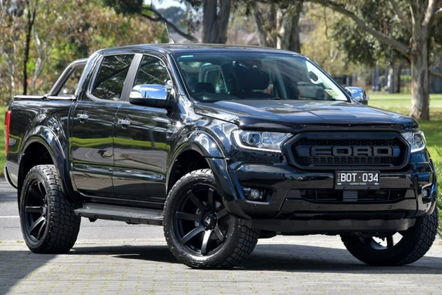 Used Ford Ranger PX MkIII 2021.25MY XLT Dandenong, 2021 Ford Ranger PX MkIII 2021.25MY XLT Black 10 Speed Sports Automatic Double Cab Pick Up