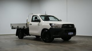 2020 Toyota Hilux TGN121R Workmate 4x2 White 5 Speed Manual Cab Chassis.