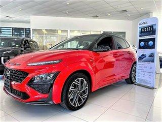 2021 Hyundai Kona Os.v4 MY21 N-Line D-CT AWD Premium Ignite Flame & Black Roof 7 Speed.