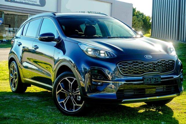 New Kia Sportage QL MY21 GT-Line AWD Wangara, 2021 Kia Sportage QL MY21 GT-Line AWD Mercury Blue 6 Speed Sports Automatic Wagon