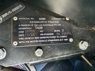 2014 Kenworth T400 Series T400 Series Truck White Prime Mover