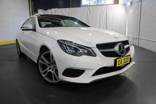 Used Mercedes-Benz E-Class C207 806MY E250 CDI 7G-Tronic + Castle Hill, 2015 Mercedes-Benz E-Class C207 806MY E250 CDI 7G-Tronic + White 7 Speed Sports Automatic Coupe