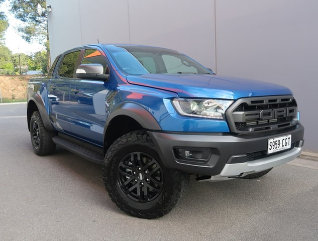 Used Ford Ranger PX MkIII 2019.00MY Raptor Reynella, 2019 Ford Ranger PX MkIII 2019.00MY Raptor Blue 10 Speed Sports Automatic Double Cab Pick Up
