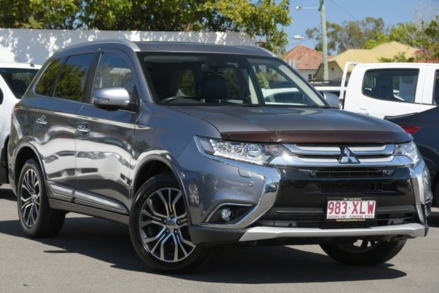 Used Mitsubishi Outlander ZK MY18 Exceed AWD Mount Gravatt, 2017 Mitsubishi Outlander ZK MY18 Exceed AWD Grey 6 Speed Constant Variable Wagon
