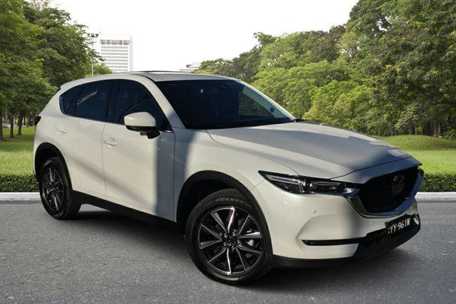 Used Mazda CX-5 KF4WLA Akera SKYACTIV-Drive i-ACTIV AWD Paradise, 2018 Mazda CX-5 KF4WLA Akera SKYACTIV-Drive i-ACTIV AWD White 6 Speed Sports Automatic Wagon