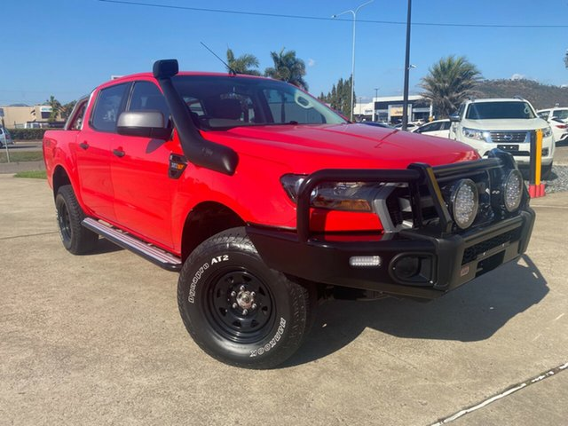 Used Ford Ranger PX MkII 2018.00MY XLS Double Cab Townsville, 2018 Ford Ranger PX MkII 2018.00MY XLS Double Cab Red/210918 6 Speed Sports Automatic Utility
