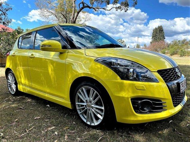 Used Suzuki Swift FZ Sport Mount Gravatt, 2013 Suzuki Swift FZ Sport Yellow 7 Speed Constant Variable Hatchback