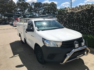 2016 Toyota Hilux TGN121R Workmate 4x2 White 6 speed Automatic Cab Chassis.