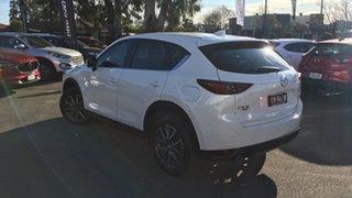 2018 Mazda CX-5 KF4WLA Akera SKYACTIV-Drive i-ACTIV AWD White 6 Speed Sports Automatic Wagon.