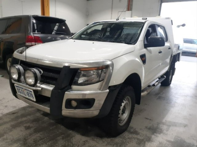 Pre-Owned Ford Ranger PX XL 3.2 (4x4) Rockingham, 2014 Ford Ranger PX XL 3.2 (4x4) White 6 Speed Automatic Dual Cab Chassis