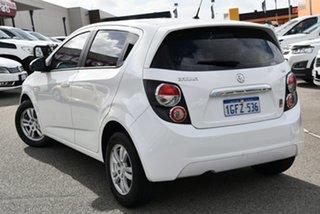 2014 Holden Barina TM MY15 CD Trio White 6 Speed Automatic Hatchback.