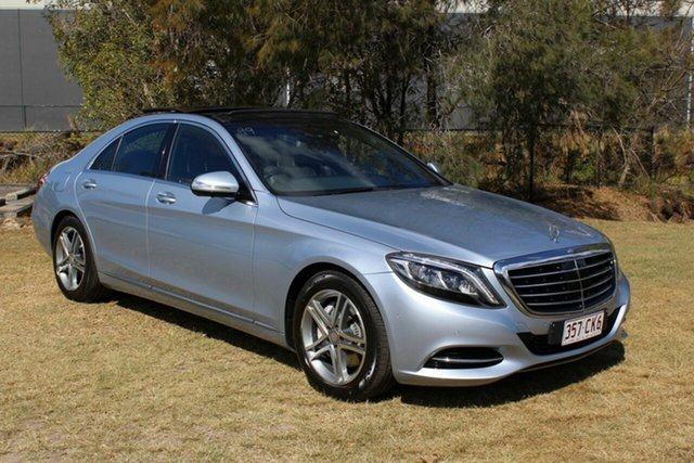 Used Mercedes-Benz S-Class V222 S350 BlueTEC L 7G-Tronic + Ormeau, 2014 Mercedes-Benz S-Class V222 S350 BlueTEC L 7G-Tronic + Silver 7 Speed Sports Automatic Sedan