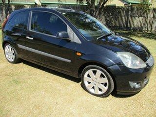 2007 Ford Fiesta WQ Zetec Black 5 Speed Manual Hatchback.