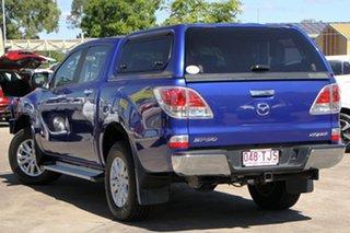 2013 Mazda BT-50 UP0YF1 GT Aurora Blue 6 Speed Sports Automatic Utility.