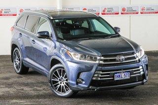 2019 Toyota Kluger GSU55R Grande AWD Cosmos Blue 8 Speed Sports Automatic Wagon.
