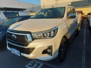 2019 Toyota Hilux GUN126R SR Double Cab Crystal Pearl 6 Speed Sports Automatic Utility.