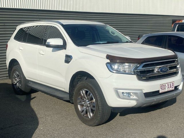 Used Ford Everest UA Trend Gladstone, 2016 Ford Everest UA Trend White 6 Speed Sports Automatic SUV