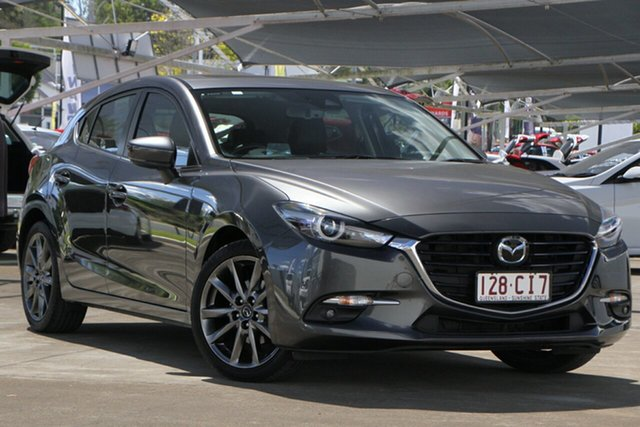 Used Mazda 3 BN5438 SP25 SKYACTIV-Drive Astina Bundamba, 2017 Mazda 3 BN5438 SP25 SKYACTIV-Drive Astina Grey 6 Speed Sports Automatic Hatchback