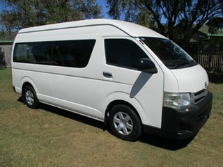 2013 Toyota HiAce TRH223R MY12 Commuter High Roof Super LWB White 4 Speed Automatic Bus.