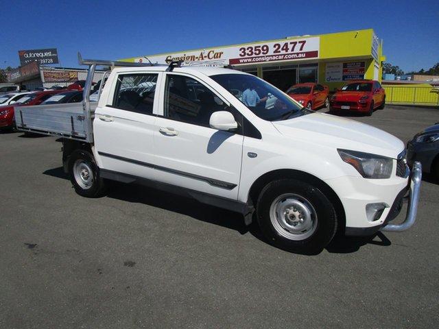 Used Ssangyong Actyon Sports Q150 MY12 Tradie 4x2 Kedron, 2012 Ssangyong Actyon Sports Q150 MY12 Tradie 4x2 White 6 Speed Manual Utility