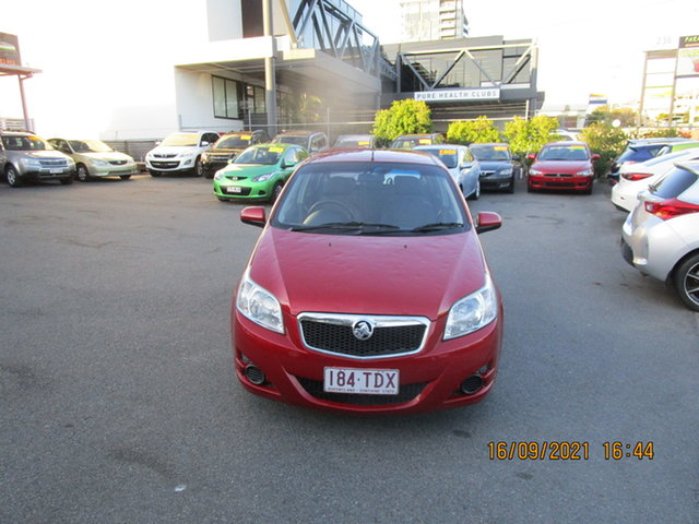 Used Holden Barina TK MY11 Coorparoo, 2011 Holden Barina TK MY11 Red 4 Speed Automatic Hatchback