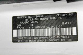 2018 Mitsubishi Pajero NX MY19 GLX LWB (4x4) 7 Seat White 5 Speed Auto Sports Mode Wagon