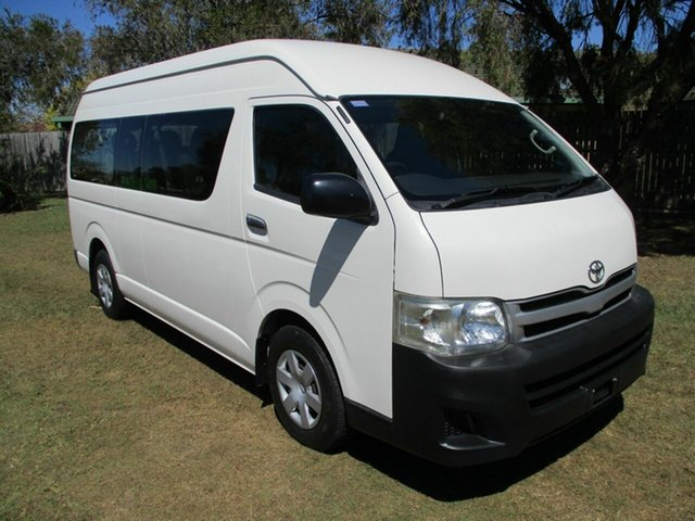 Used Toyota HiAce TRH223R MY12 Commuter High Roof Super LWB Kippa-Ring, 2013 Toyota HiAce TRH223R MY12 Commuter High Roof Super LWB White 4 Speed Automatic Bus