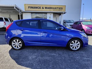 2012 Hyundai Accent RB Active Blue 4 Speed Sports Automatic Hatchback