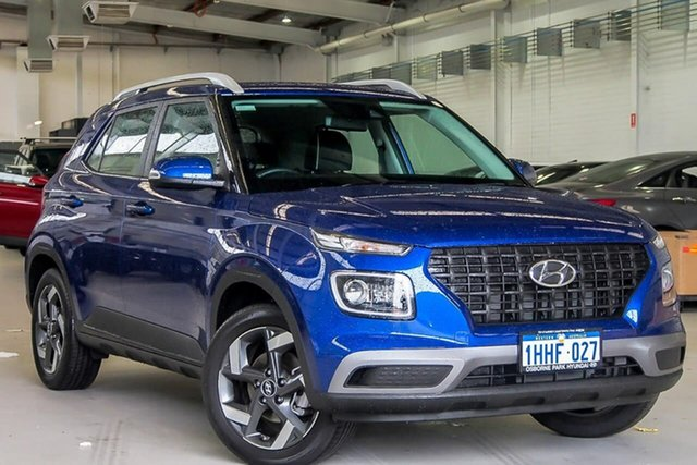 Used Hyundai Venue QX.V3 MY21 Active Osborne Park, 2021 Hyundai Venue QX.V3 MY21 Active Blue 6 Speed Automatic Wagon