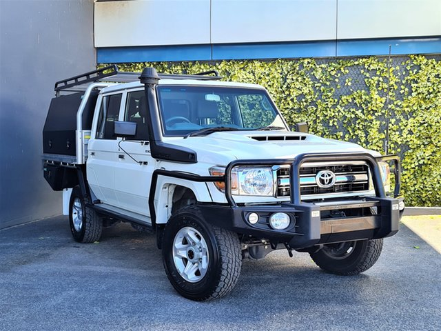 Used Toyota Landcruiser VDJ79R GXL Double Cab St Marys, 2020 Toyota Landcruiser VDJ79R GXL Double Cab White 5 Speed Manual Cab Chassis