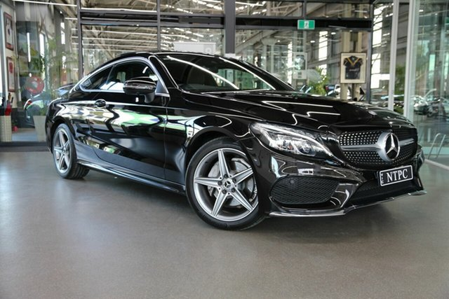 Used Mercedes-Benz C-Class C205 807+057MY C200 9G-Tronic North Melbourne, 2017 Mercedes-Benz C-Class C205 807+057MY C200 9G-Tronic Black 9 Speed Sports Automatic Coupe