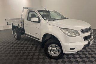 2013 Holden Colorado RG MY13 LX 4x2 Summit White 6 speed Automatic Cab Chassis.