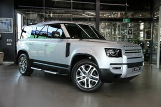 2021 Land Rover Defender L663 21MY 110 D300 AWD SE Silver 8 Speed Sports Automatic Wagon.