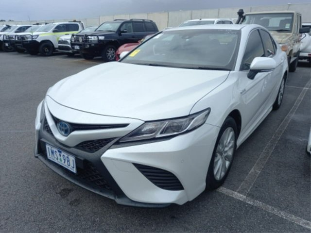 Pre-Owned Toyota Camry AXVH71R Ascent Sport Hybrid Rockingham, 2018 Toyota Camry AXVH71R Ascent Sport Hybrid Frosted White Continuous Variable Sedan