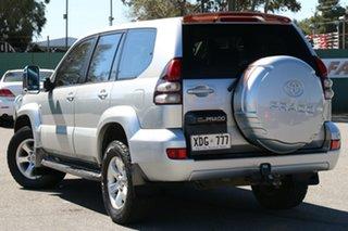 2004 Toyota Landcruiser Prado KZJ120R GXL Silver 5 Speed Manual Wagon.