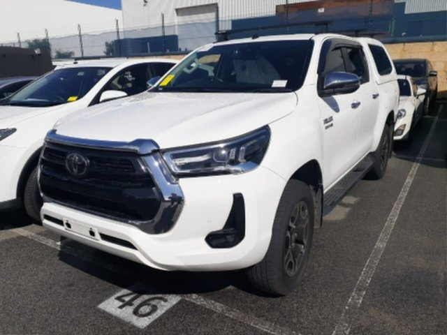 Pre-Owned Toyota Hilux GUN126R SR5 Double Cab Rockingham, 2020 Toyota Hilux GUN126R SR5 Double Cab Glacier White 6 Speed Sports Automatic Utility