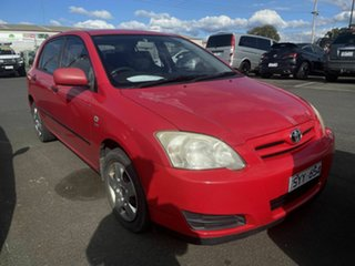 2004 Toyota Corolla ZZE122R Ascent Red 5 Speed Manual Hatchback.