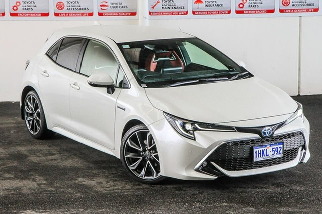 Pre-Owned Toyota Corolla ZWE211R ZR E-CVT Hybrid Myaree, 2020 Toyota Corolla ZWE211R ZR E-CVT Hybrid Crystal Pearl 10 Speed Constant Variable Hatchback