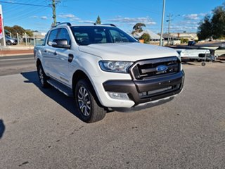 2016 Ford Ranger PX MkII Wildtrak White 6 Speed Automatic Double Cab.