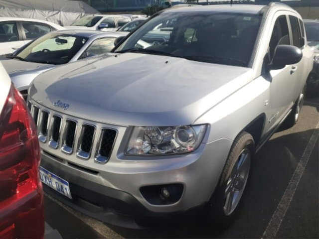 Pre-Owned Jeep Compass MK MY12 Limited (4x4) Rockingham, 2012 Jeep Compass MK MY12 Limited (4x4) Silver Continuous Variable Wagon