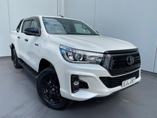 2019 Toyota Hilux GUN126R Rogue Double Cab Pearl White 6 Speed Sports Automatic Utility.