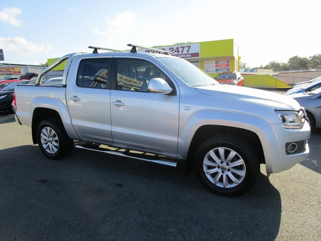Used Volkswagen Amarok 2H MY16 TDI420 4Motion Perm Highline Kedron, 2016 Volkswagen Amarok 2H MY16 TDI420 4Motion Perm Highline Silver 8 Speed Automatic Utility