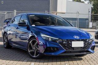 2021 Hyundai i30 CN7.V1 MY21 N Line D-CT Premium Blue 7 Speed Sports Automatic Dual Clutch Sedan.
