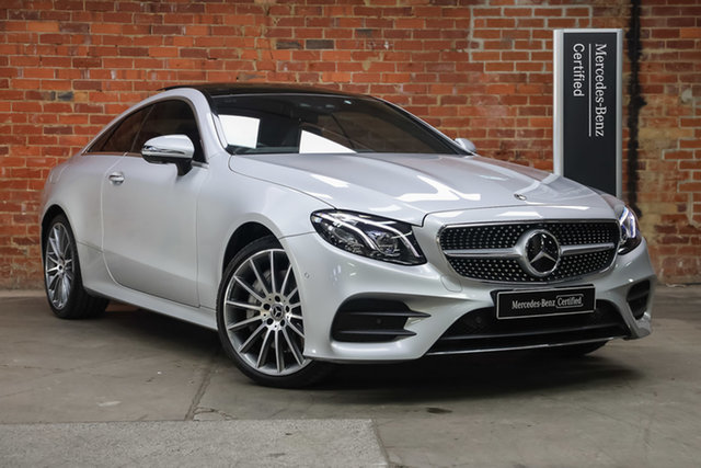 Certified Pre-Owned Mercedes-Benz E-Class C238 E300 9G-Tronic PLUS Mulgrave, 2017 Mercedes-Benz E-Class C238 E300 9G-Tronic PLUS Iridium Silver 9 Speed Sports Automatic Coupe