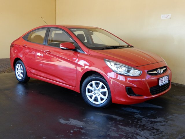 Used Hyundai Accent RB2 Active Toowoomba, 2014 Hyundai Accent RB2 Active Red 4 Speed Automatic Sedan