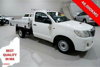 2013 Toyota Hilux KUN16R MY12 SR 4x2 White 5 Speed Manual Cab Chassis.