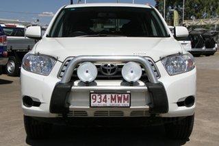 2010 Toyota Kluger GSU40R KX-R 2WD White 5 Speed Sports Automatic Wagon.