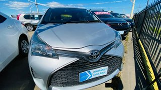 2015 Toyota Yaris NCP130R Ascent Silver 4 Speed Automatic Hatchback.